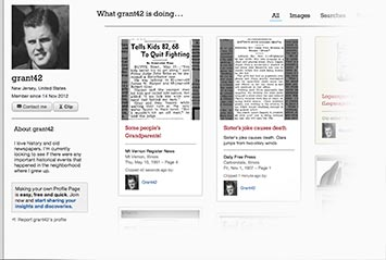 Profile page on Arizona Republic Archive